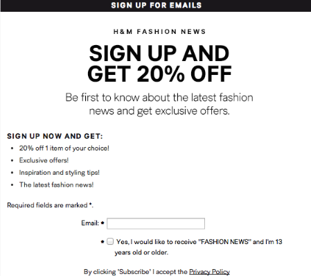 Incentives email
