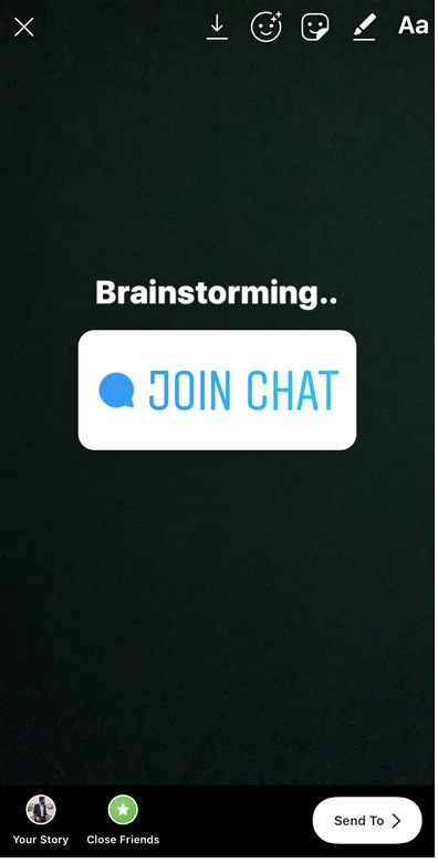 Instagram adds a new chat sticker to stories