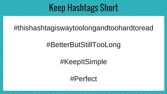 Make hashtags short