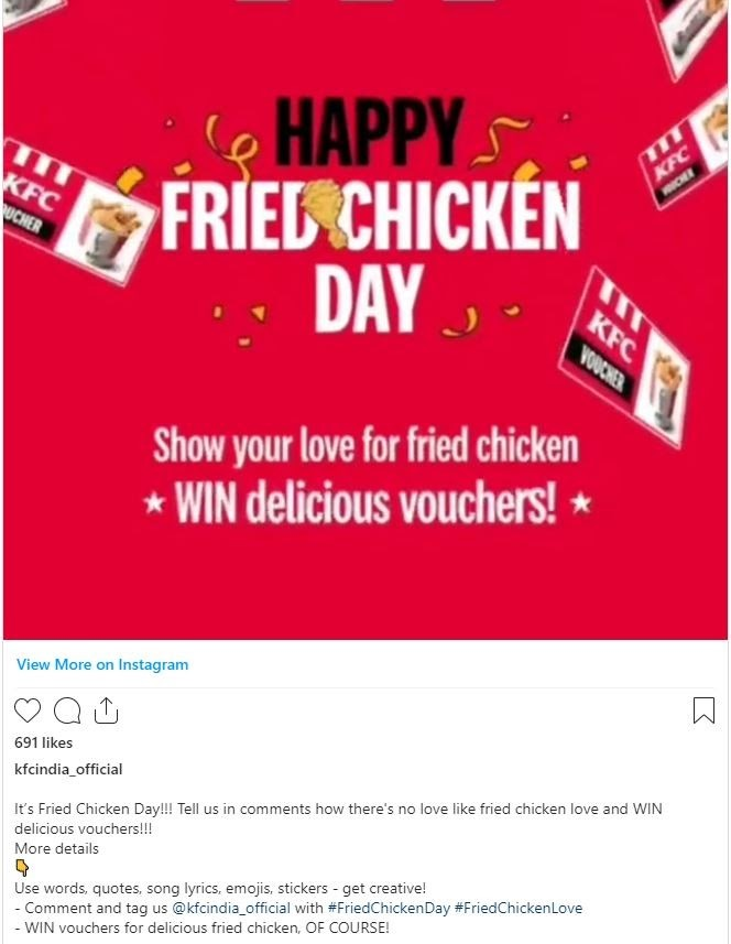 KFC India for engagement