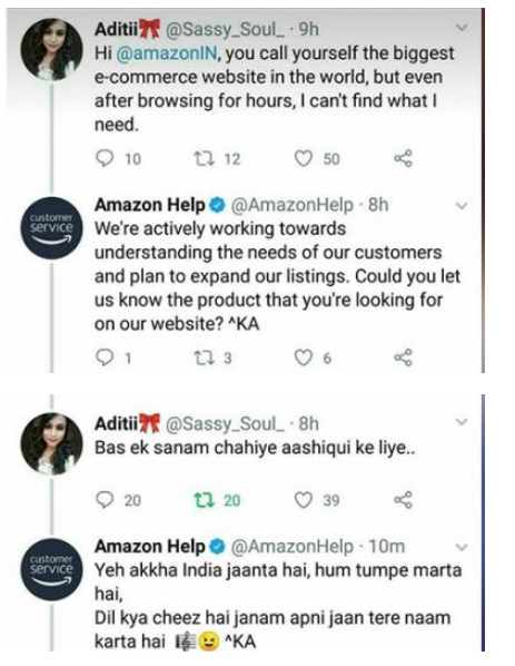 how Amazon responded to one of their customers in the quirkiest way