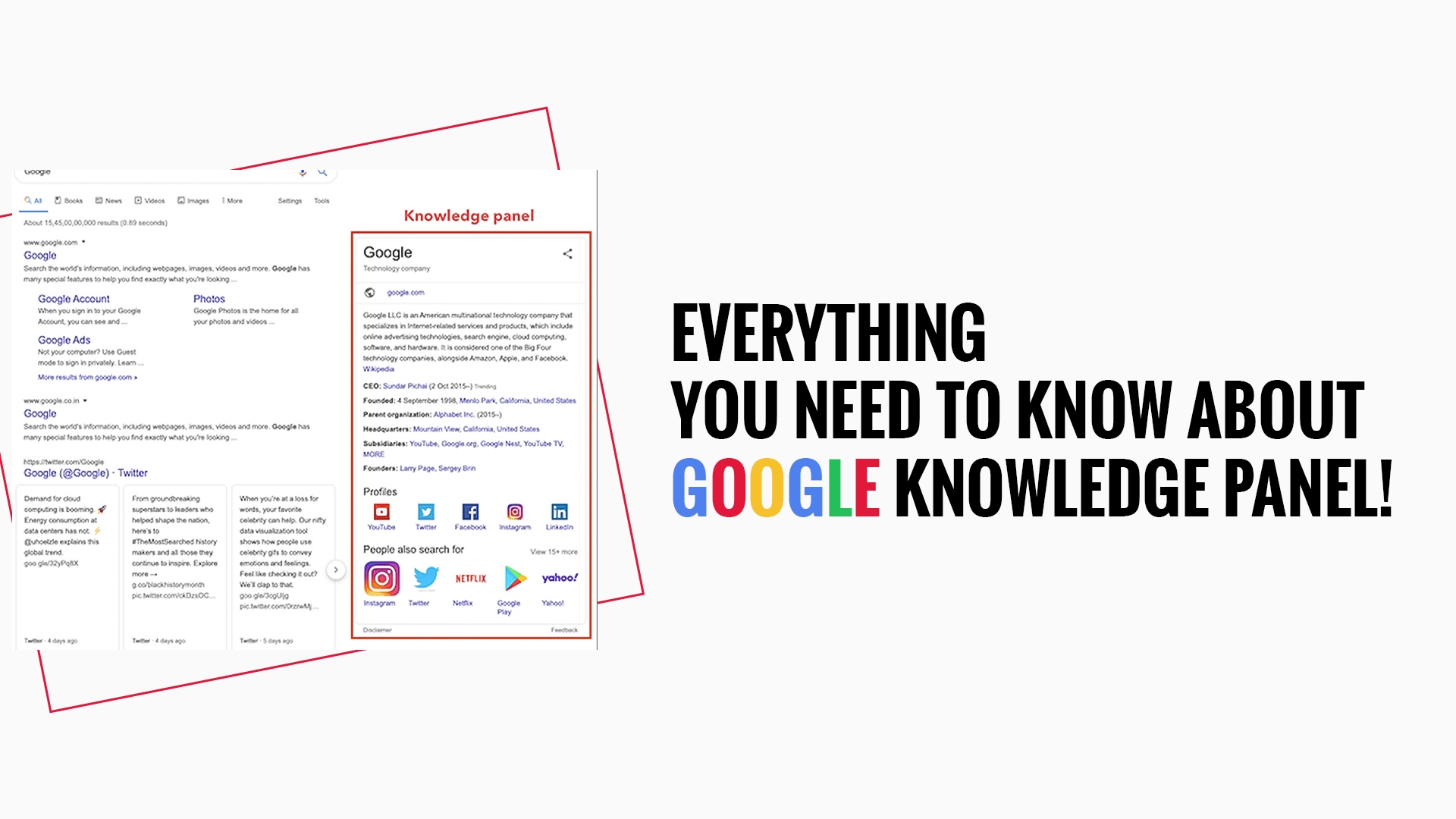 Everything You Need To Know About Google Knowledge Panel